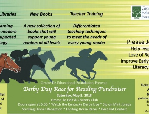 Please Join us at the Derby Day Race for Reading Fundraiser!    BUY TICKETS HERE!!